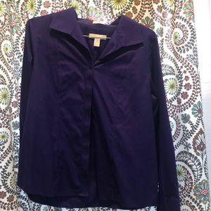 Purple button down long sleeve